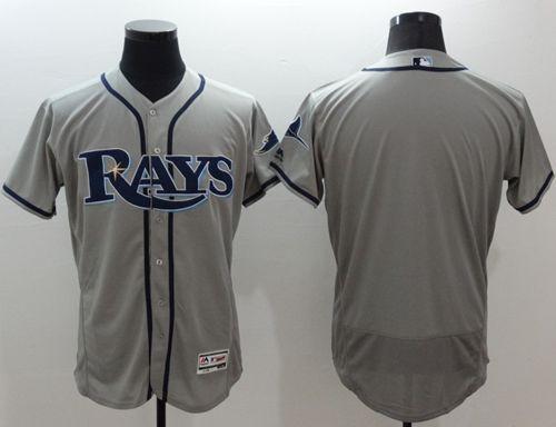 Rays Blank Grey Flexbase Authentic Collection Stitched MLB Jersey