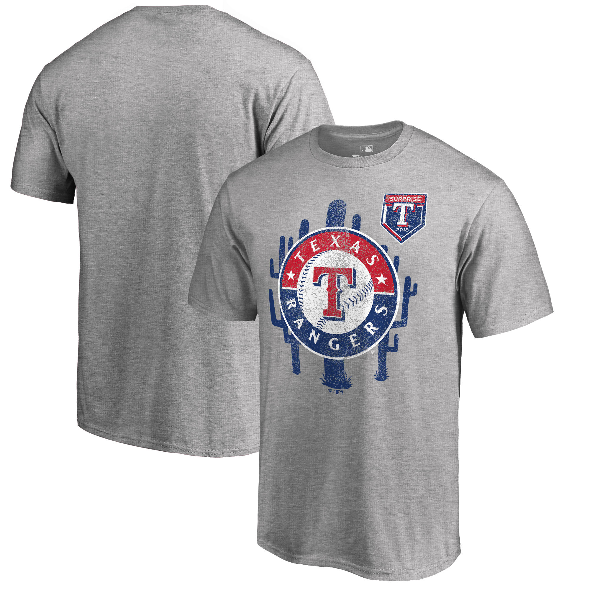 Men's Texas Rangers Fanatics Branded 2018 MLB Spring Training Vintage T-Shirt – Heather Gray