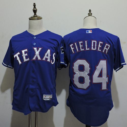 Rangers #84 Prince Fielder Blue Flexbase Authentic Collection Stitched MLB Jersey