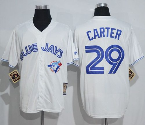 Blue Jays #29 Joe Carter White Cooperstown Throwback Stitched MLB Jersey