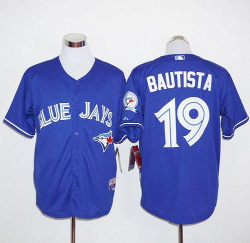 Blue Jays #19 Jose Bautista Blue Alternate Cool Base 2012 Stitched MLB Jersey