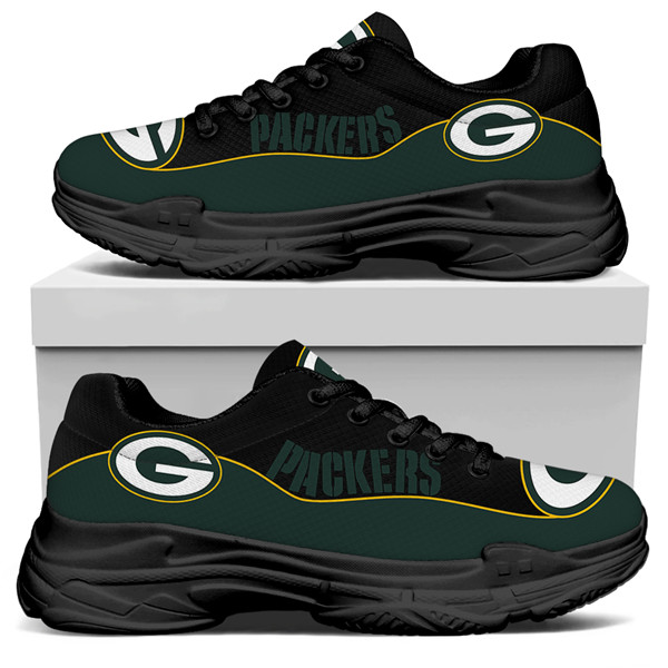 Women's Green Bay Packers Edition Chunky Sneakers With Line 005
