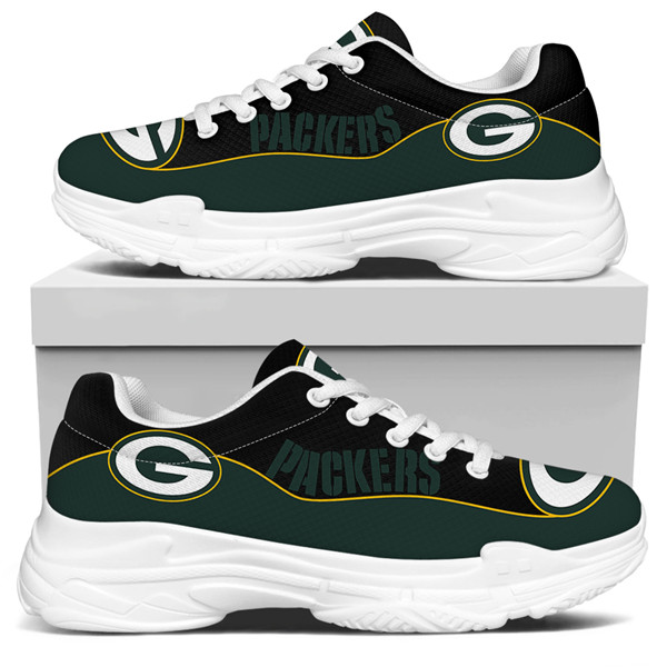Women's Green Bay Packers Edition Chunky Sneakers With Line 006