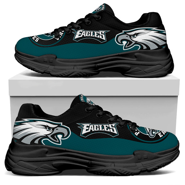 Women's Philadelphia Eagles Edition Chunky Sneakers With Line 001