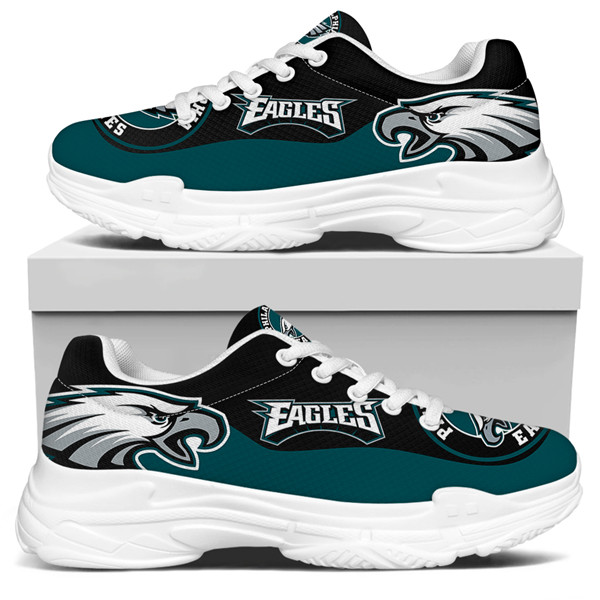 Women's Philadelphia Eagles Edition Chunky Sneakers With Line 002
