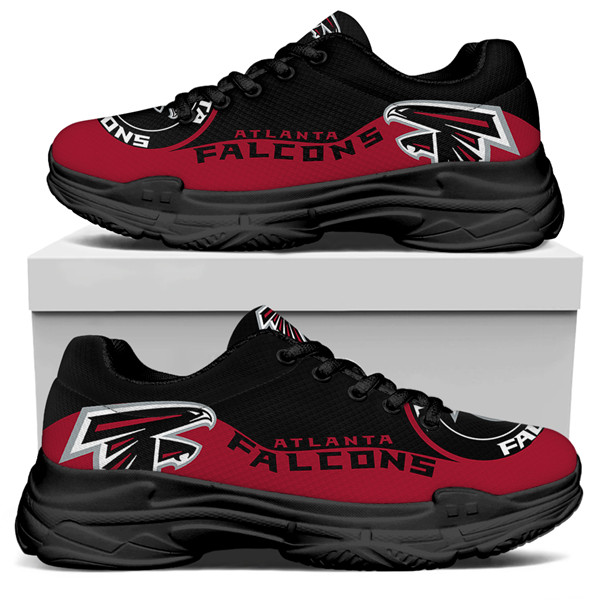 Women's Atlanta Falcons Edition Chunky Sneakers With Line 004