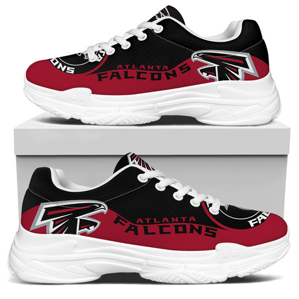Women's Atlanta Falcons Edition Chunky Sneakers With Line 003