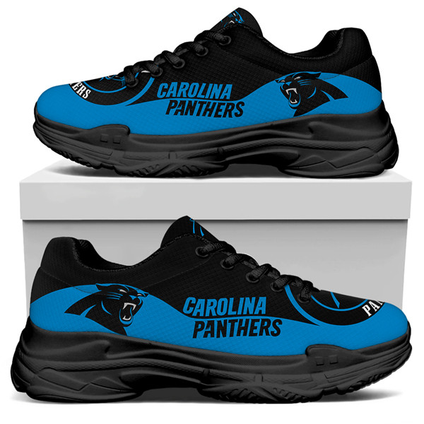 Women's Carolina Panthers Edition Chunky Sneakers With Line 001
