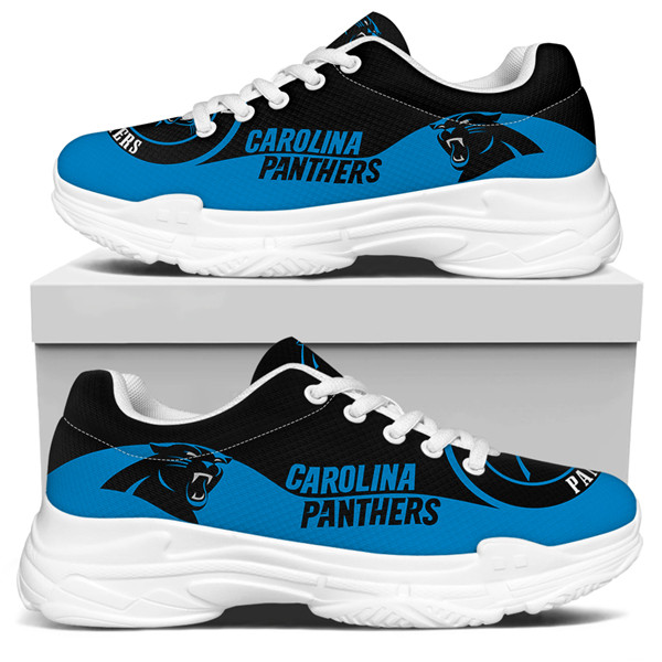 Women's Carolina Panthers Edition Chunky Sneakers With Line 002