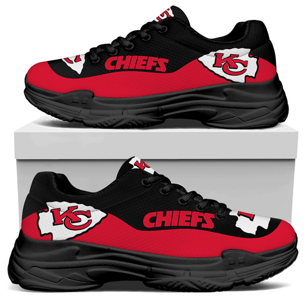 Women's Kansas City Chiefs Edition Chunky Sneakers With Line 001