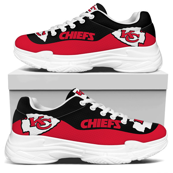 Women's Kansas City Chiefs Edition Chunky Sneakers With Line 002