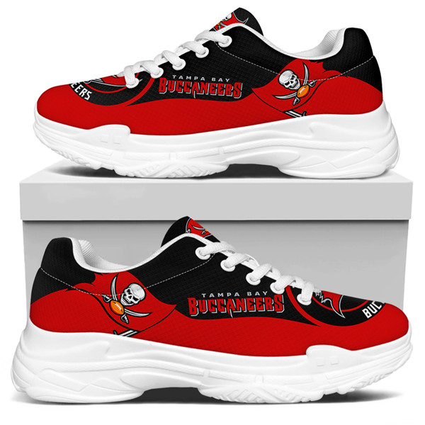 Women's Tampa Bay Buccaneers Edition Chunky Sneakers With Line 002