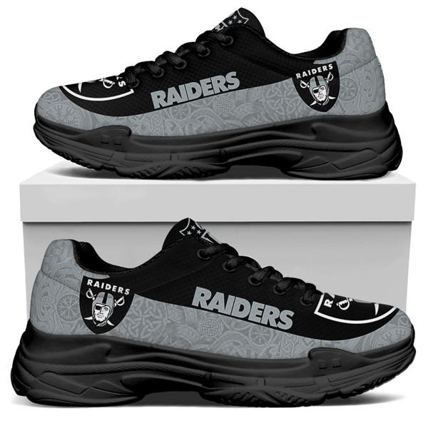 Women's Las Vegas Raiders Edition Chunky Sneakers With Line 003