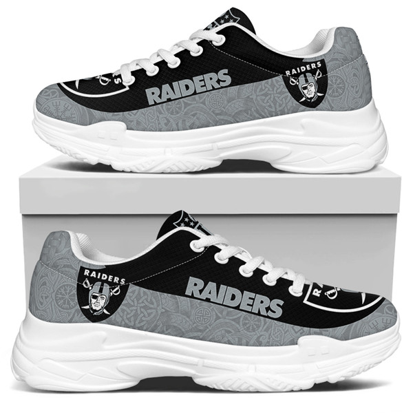 Women's Las Vegas Raiders Edition Chunky Sneakers With Line 004