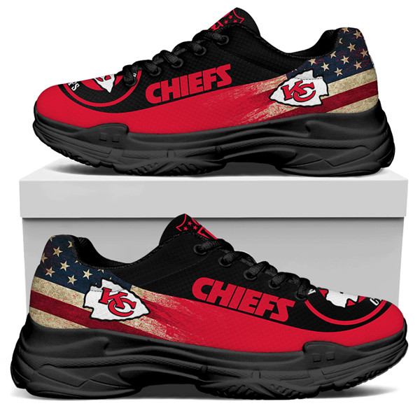 Women's Kansas City Chiefs Edition Chunky Sneakers With Line 003