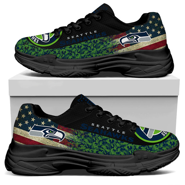Women's Seattle Seahawks Edition Chunky Sneakers With Line 003