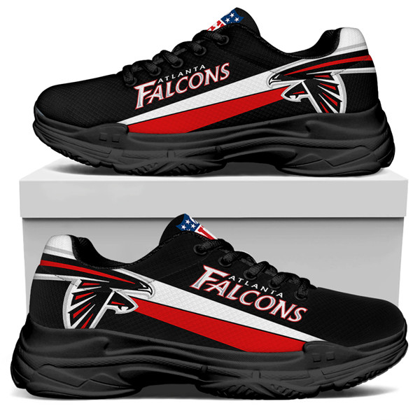 Women's Atlanta Falcons Edition Chunky Sneakers With Line 002