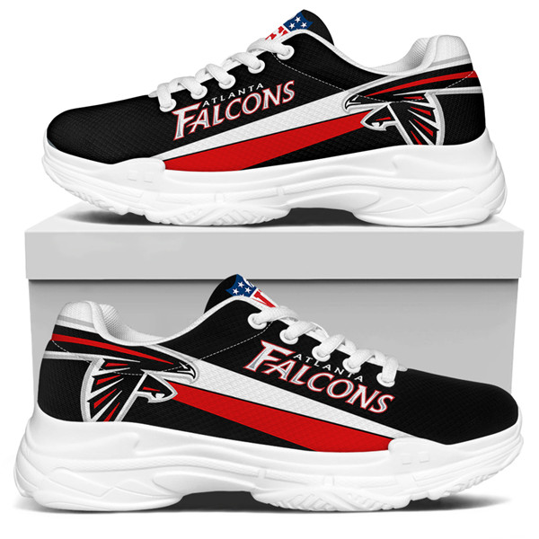 Women's Atlanta Falcons Edition Chunky Sneakers With Line 001
