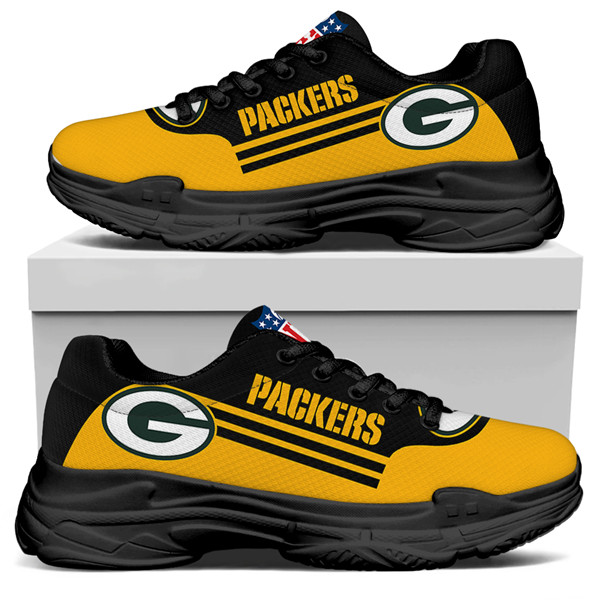 Women's Green Bay Packers Edition Chunky Sneakers With Line 001