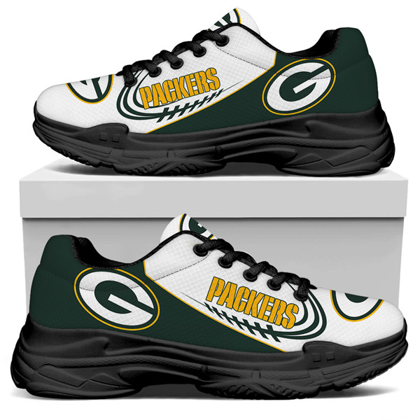 Women's Green Bay Packers Edition Chunky Sneakers With Line 003