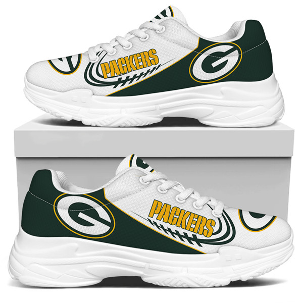 Women's Green Bay Packers Edition Chunky Sneakers With Line 004