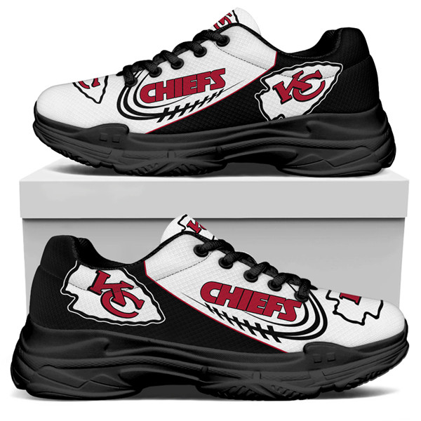 Women's Kansas City Chiefs Edition Chunky Sneakers With Line 005