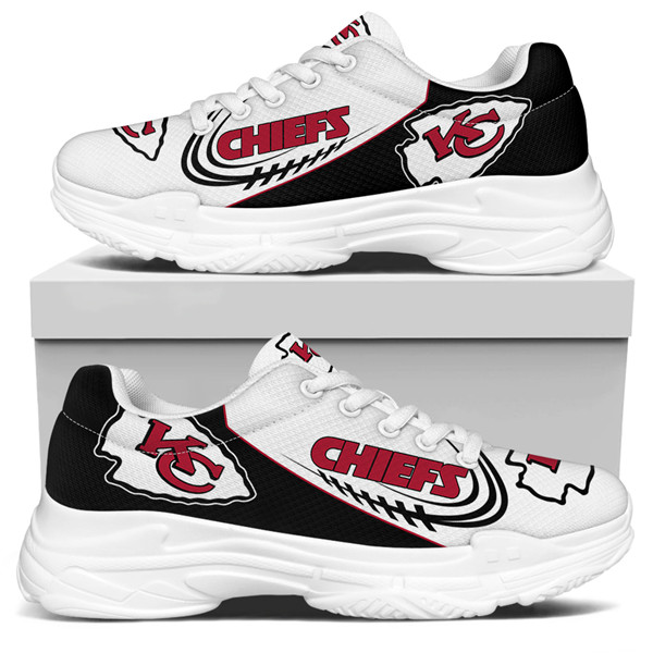 Women's Kansas City Chiefs Edition Chunky Sneakers With Line 006