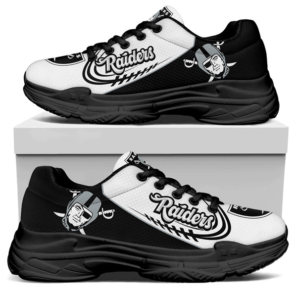 Women's Las Vegas Raiders Edition Chunky Sneakers With Line 005