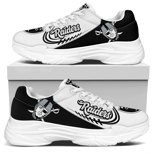 Women's Las Vegas Raiders Edition Chunky Sneakers With Line 006