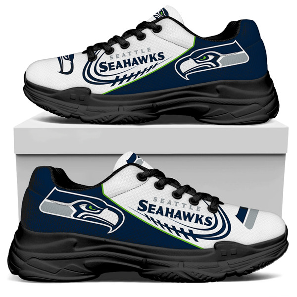 Women's Seattle Seahawks Edition Chunky Sneakers With Line 005