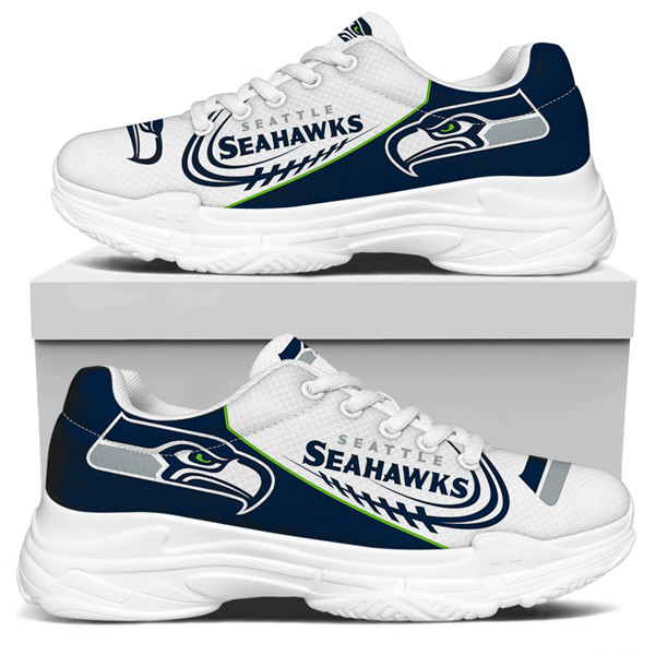 Women's Seattle Seahawks Edition Chunky Sneakers With Line 006