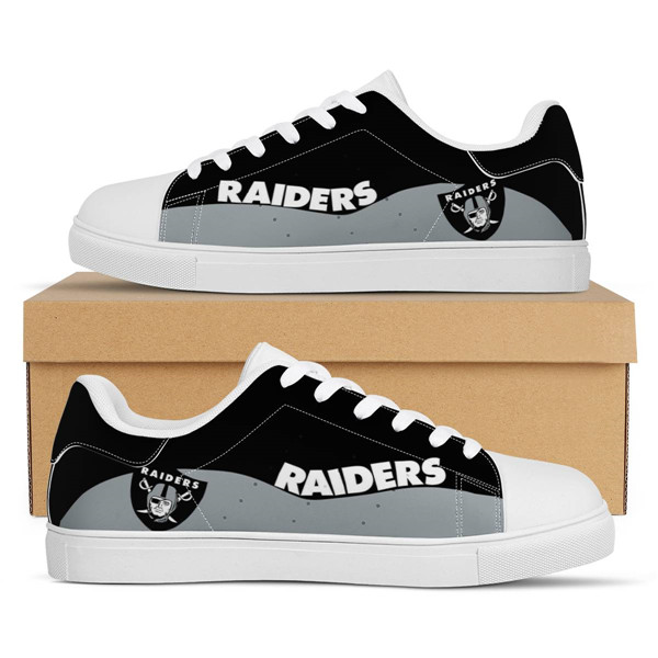 Women's Las Vegas Raiders Low Top Leather Sneakers 003