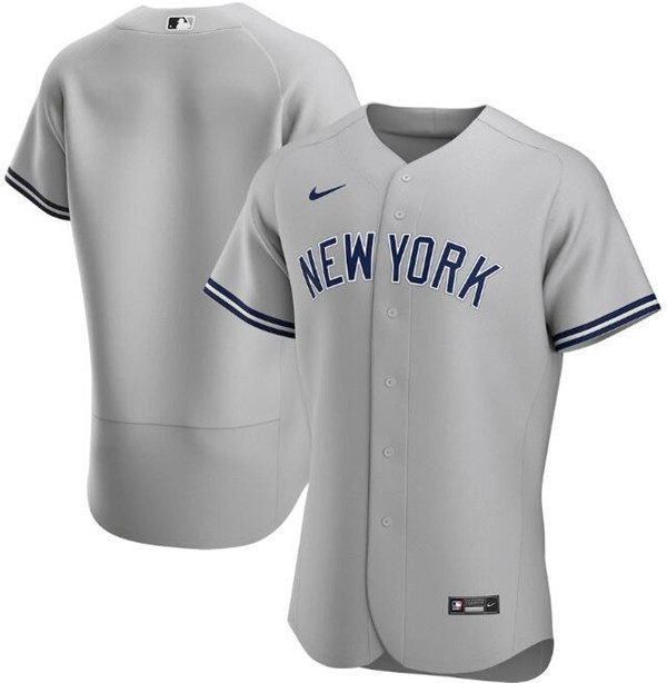 Men's New York Yankees Grey Flex Base Stitched MLB Jersey