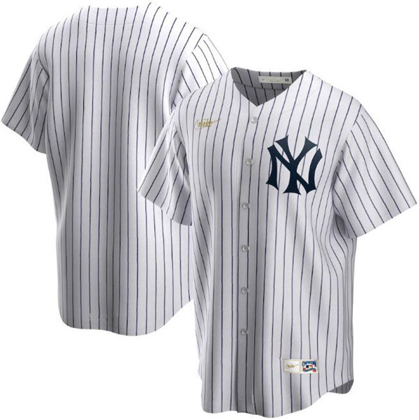 Men's New York Yankees White Cool Base Stitched MLB Jersey.