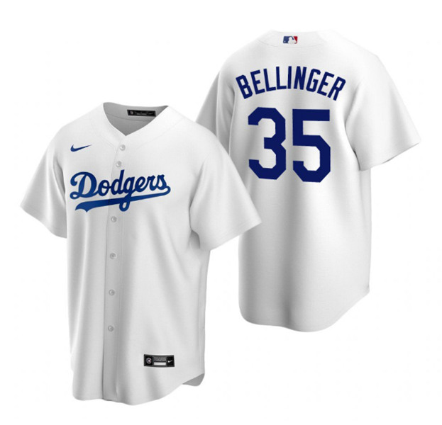 Men's Los Angeles Dodgers #35 Cody Bellinger White Stitched MLB Jersey
