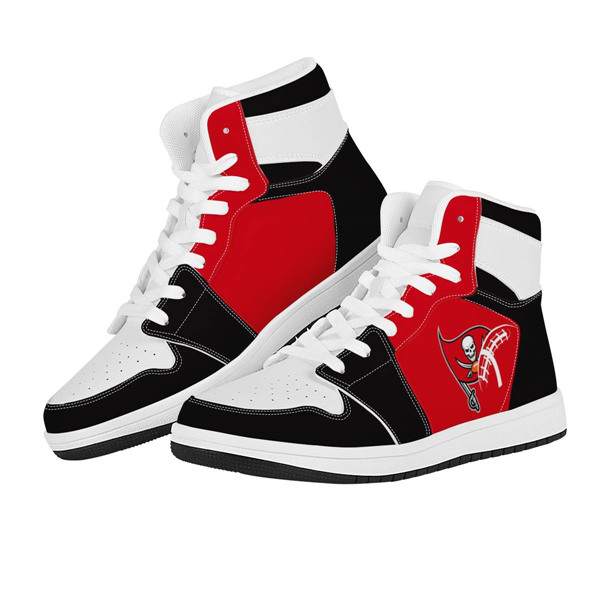 Women's Tampa Bay Buccaneers AJ High Top Leather Sneakers 002