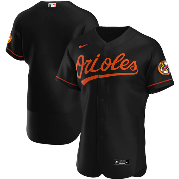 Men's Baltimore Orioles Blank Black Flex Base Stitched MLB Jersey
