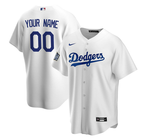 Men's Los Angeles Dodgers ACTIVE PLAYER Custom White 2020 World Series Bound Stitched MLB Jersey