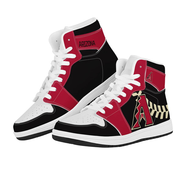 Women's Arizona Diamondbacks AJ High Top Leather Sneakers 002