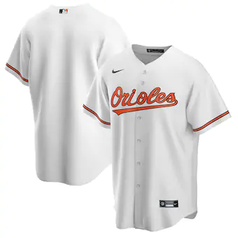Men's Baltimore Orioles Blank White Cool Base Stitched MLB Jersey