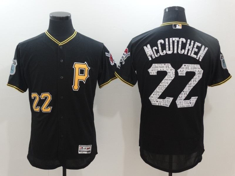 Men's Pittsburgh Pirates #22 Andrew McCutchen Majestic Black 2017 Spring Training Authentic Flex Base Player Stitched MLB Jersey
