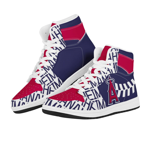 Women's Los Angeles Angels AJ High Top Leather Sneakers 001