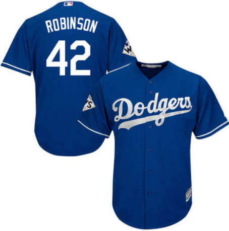 Men's Los Angeles Dodgers #42 Jackie Robinson Blue Stitched MLB Jersey