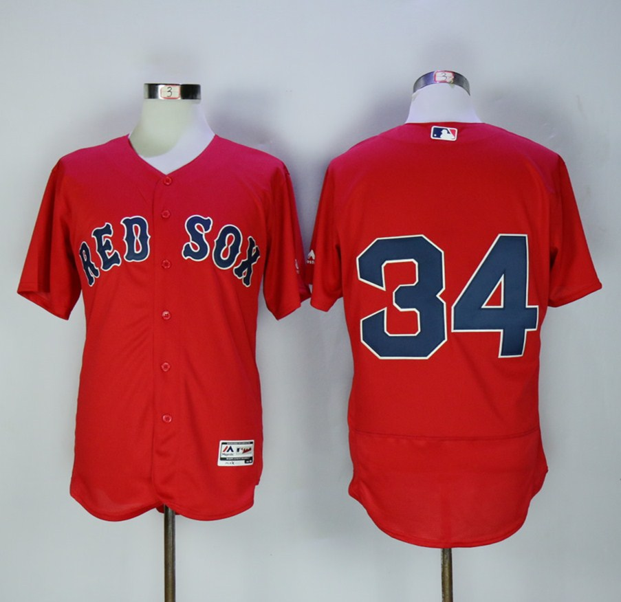 Men's Boston Red Sox #34 David Ortiz Red Stitched MLB Jersey