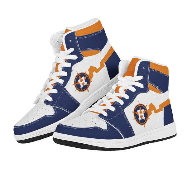 Women's Houston Astros AJ High Top Leather Sneakers 001