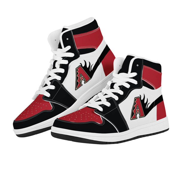 Women's Arizona Diamondbacks AJ High Top Leather Sneakers 001