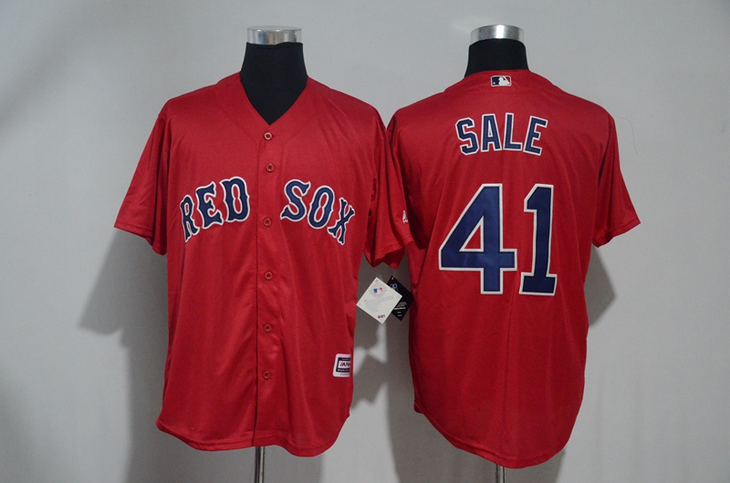 Men's Boston Red Sox #41 Chris Sale Red Cool Base Stitched MLB Jersey