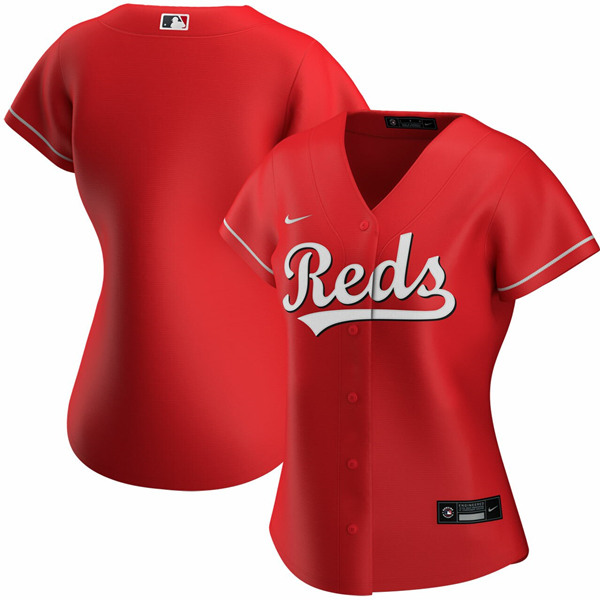 Women's Cincinnati Reds ACTIVE PLAYER Custom Red Stitched Jersey(Run Small)