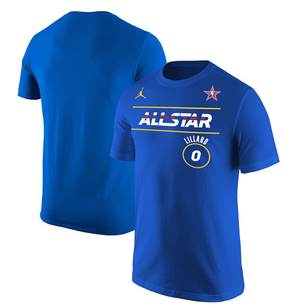 Men's 2021 All-Star Active Player Custom Blue Royal T-Shirt