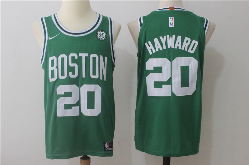 Men's Nike Boston Celtics #20 Gordon Hayward Green Stitched NBA Jersey